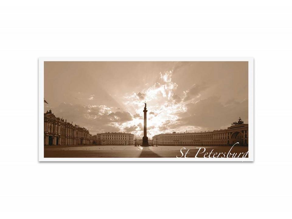 Вид на Александрийскую колонну. Фотооткрытка авт. Эмиль Кан