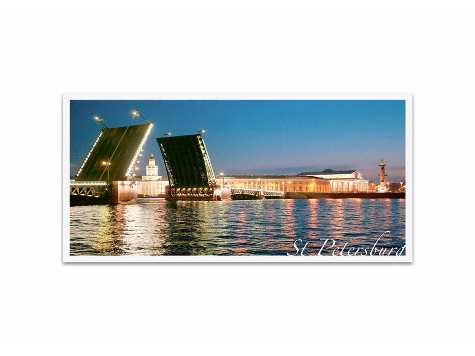 Дворцовый мост. Фотооткрытка авт. Эмиль Кан