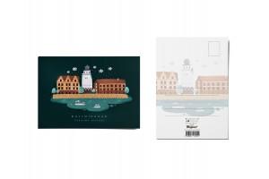 Почтовая открытка «Рыбная деревня» (Калининград)