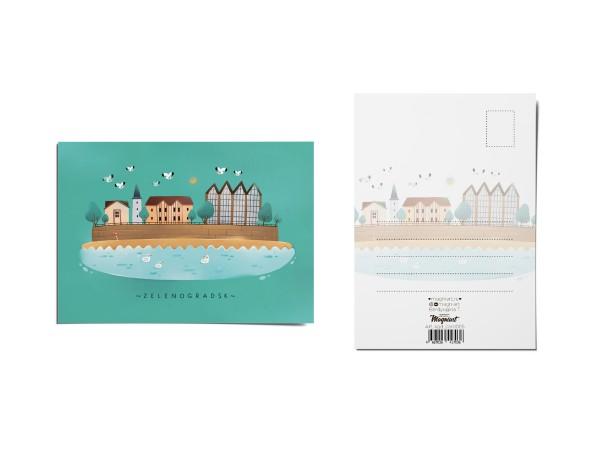 Почтовая открытка «Зеленоградск» (Калининград)