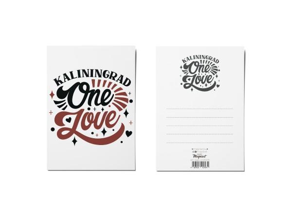 Почтовая открытка «One Love» (Калининград)