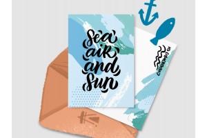 Почтовая открытка «Sea Air and Sun»