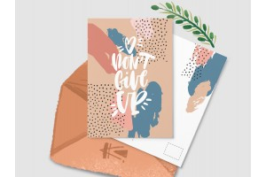 Почтовая открытка «Don't give up»