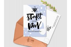 Почтовая открытка «Start your day brilliantly»