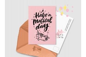 Почтовая открытка «Have a magical day»