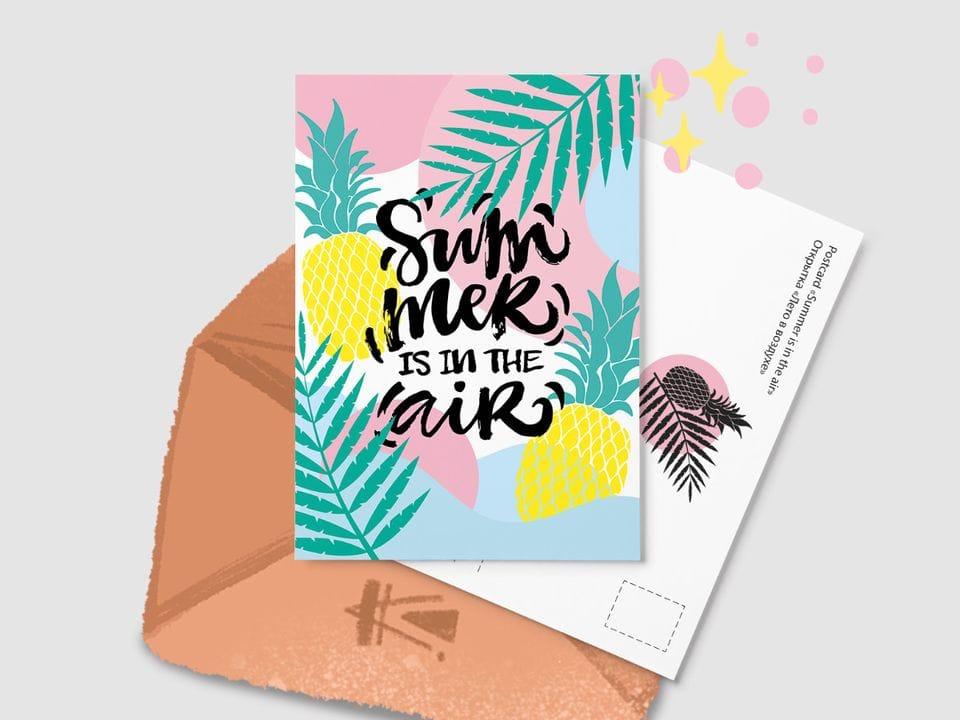 Почтовая открытка «Summer is in the air» из серии открыток Ксении Кучерявы