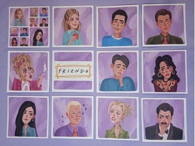 Набор открыток «Друзья». Квадрытки