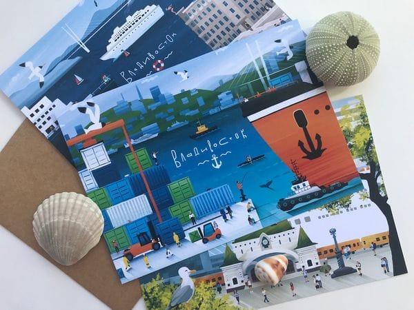 Почтовая открытка «Порт Владивосток», Владивосток