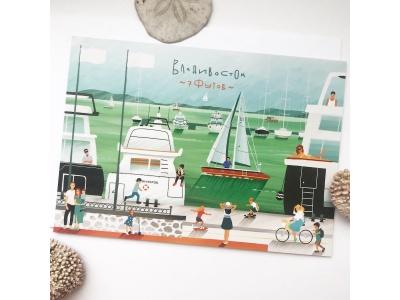 Почтовая открытка «Яхт клуб 7 футов», из коллекции Андрея Лебединского , Владивосток