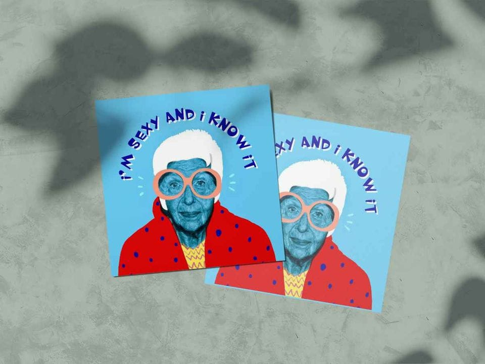 Почтовая открытка «Айрис Апфель» - коллекция Модные классики