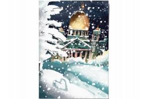 Открытка Дарья Ноксо «Зимний Исаакий»