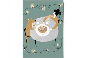 Открытка Дарья Ноксо «Ужин и пирог»