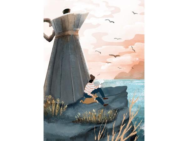 Открытка Дарья Ноксо «Кофейный маяк»