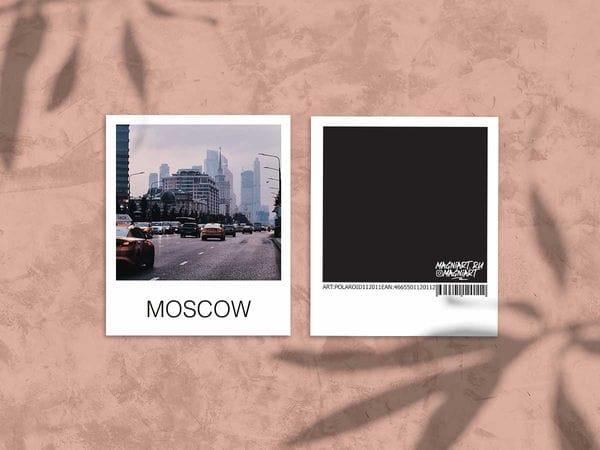 Открытка полароид «Москва Сити», фото polaroid, Москва