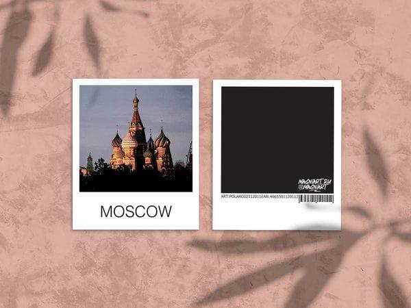 Открытка полароид «Храм Василия Блаженного», фото polaroid, Москва