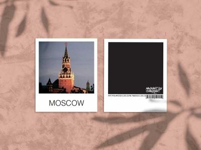 Снимок полароид - «Спасская башня Кремля», фото polaroid