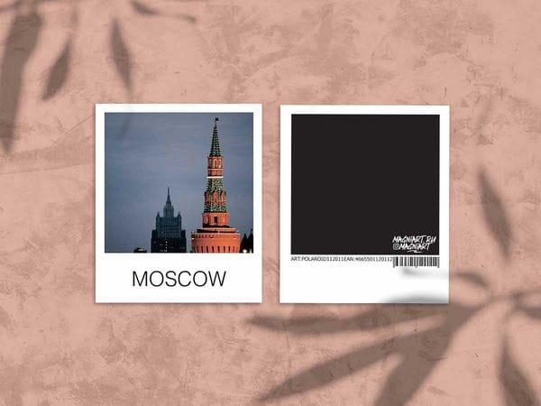 Открытка полароид «Беклемишевская башня Кремля», фото polaroid, Москва