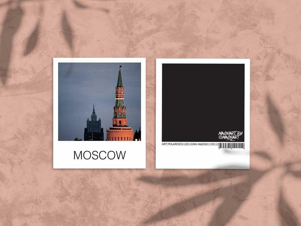 Снимок полароид - «Беклемишевская башня Кремля», фото polaroid