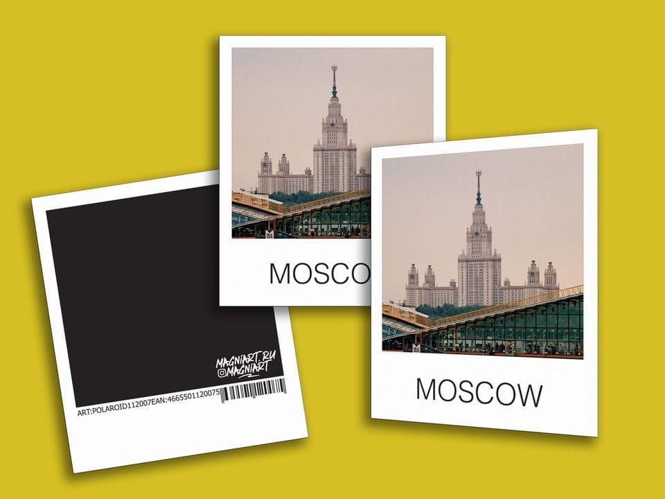 Снимок полароид - «МГУ», фото