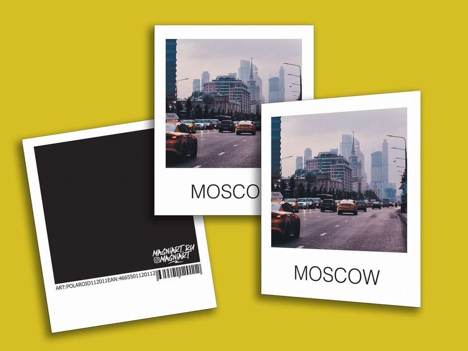 Снимок полароид - «Москва Сити», фото