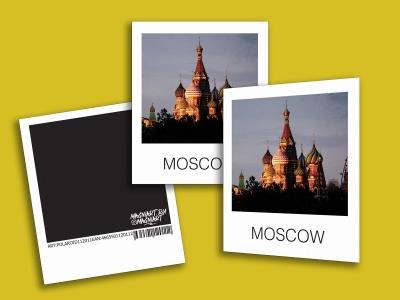 Открытка полароид - «Храм Василия Блаженного», фото