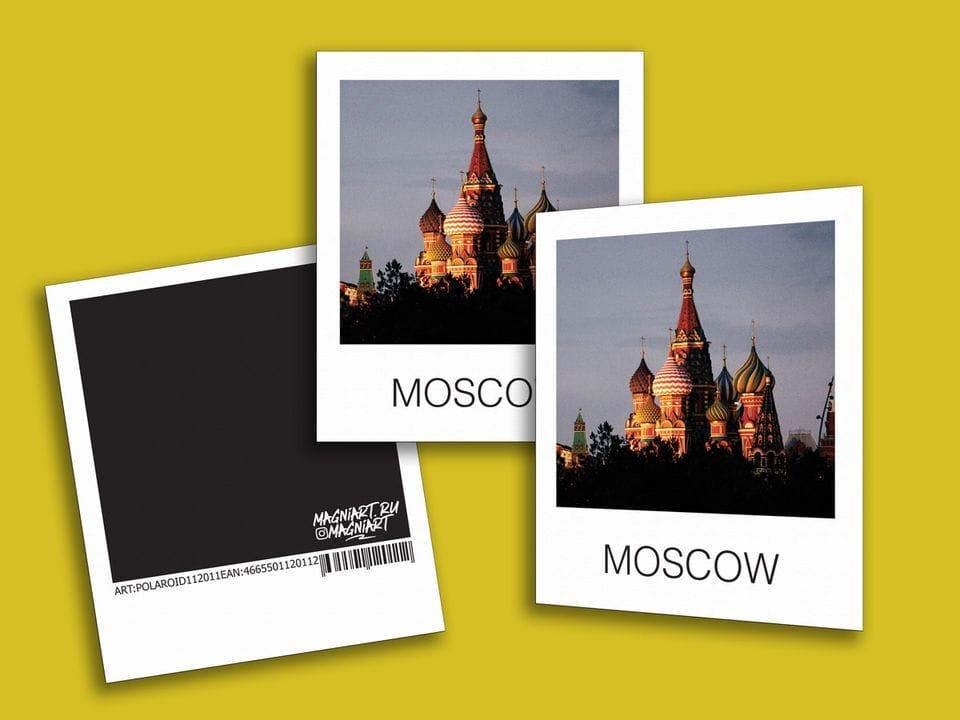 Снимок полароид - «Храм Василия Блаженного», фото