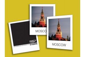 Открытка полароид «Спасская башня Кремля», фото polaroid, Москва
