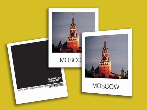 Открытка полароид - «Спасская башня Кремля», фото