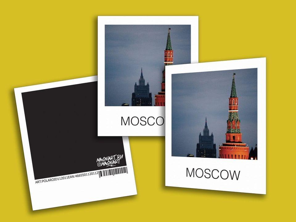 Снимок полароид - «Беклемишевская башня Кремля», фото