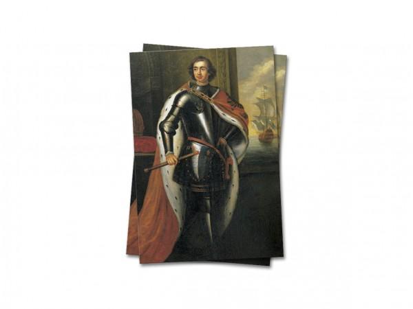 Открытка почтовая Император Петр I