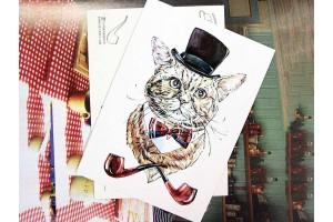"""Почтовая открытка """"Сэр Макс"""""""