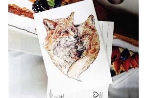 """Почтовая открытка """"Оранжевая любовь"""""""