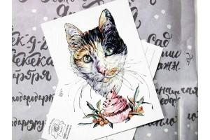 """Почтовая открытка """"Урсула Урсенька"""""""
