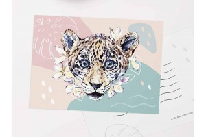 """Почтовая открытка """"Ягуар"""""""