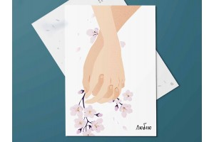 """Почтовая открытка """"Люблю"""""""