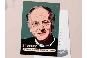 """Почтовая открытка """"Бродский. Не выходи из комнаты"""""""