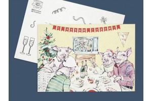 Новогодняя почтовая открытка  «С Новым годом. СССР»