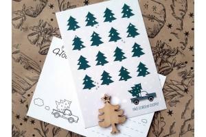 Новогодняя почтовая открытка  «Уже совсем скоро Новый год»