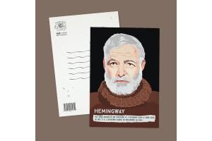"""Почтовая открытка """"Хемингуэй"""""""
