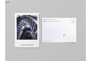 Почтовая открытка фото «Доходный дом антиквара Шпеера», винтовая лестница, Валерия Кузнецова