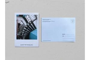 Почтовая открытка фото «Доходный дом Дальберга и Кохендерфера», лестничный пролет, Валерия Кузнецова