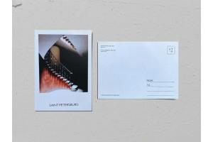 Почтовая открытка фото «Дом Бухгольца», винтовая лестница Валерия Кузнецова