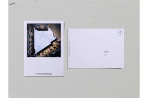 Почтовая открытка фото «Двор-колодец на Малой Посадской, 10», Валерия Кузнецова