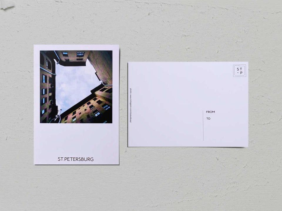 Авторская фото открытка «Двор-колодец на Малой Посадской, 10» - фотограф Валерия Кузнецова