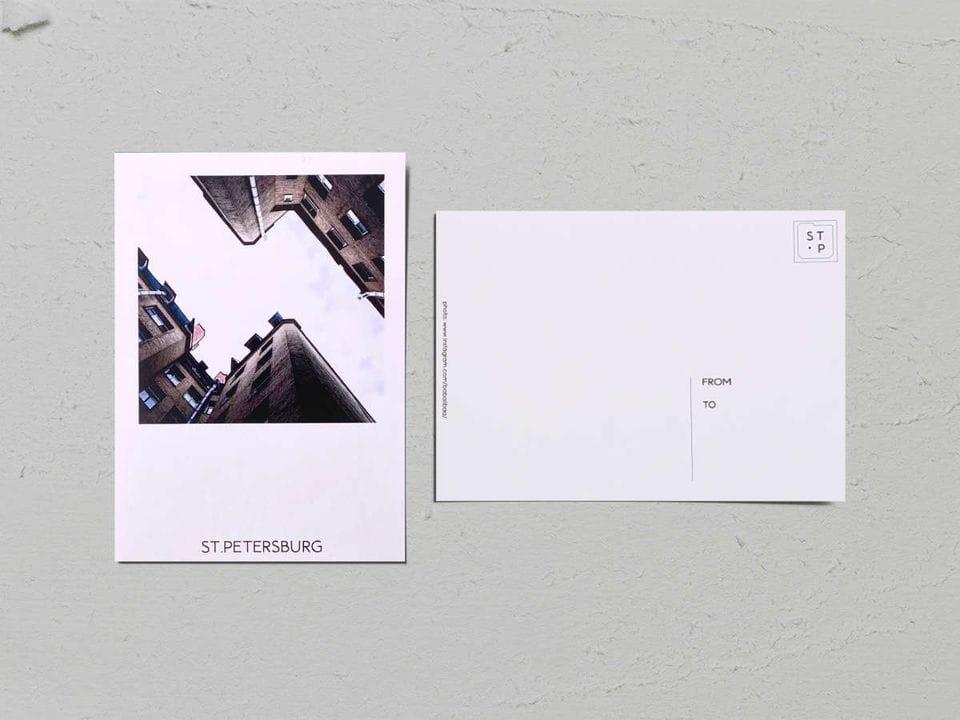 Авторская фото открытка «Двор-колодец на Рылеева, 21» - фотограф Валерия Кузнецова