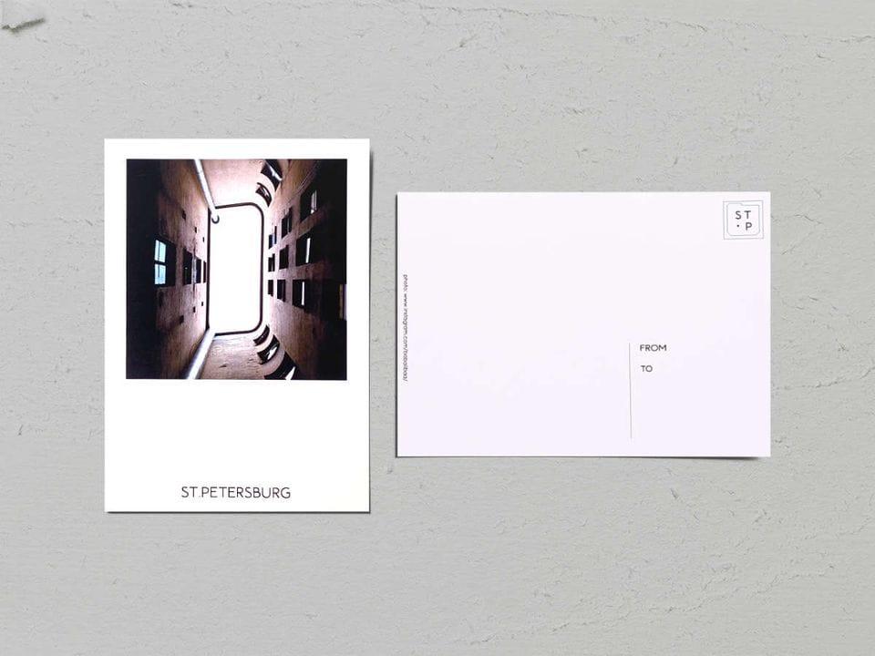 Авторская фото открытка «Двор-колодец на наб. Фонтанки, 54» - фотограф Валерия Кузнецова