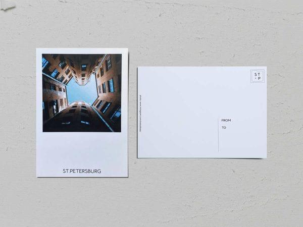 Почтовая открытка фото «Двор-колодец на Большом пр Петроградской стороны, 106», Валерия Кузнецова