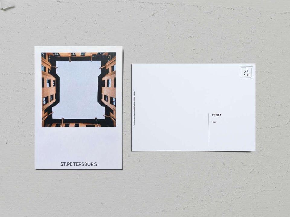 Авторская фото открытка «Двор-колодец на Большой Монетной, 22» - фотограф Валерия Кузнецова