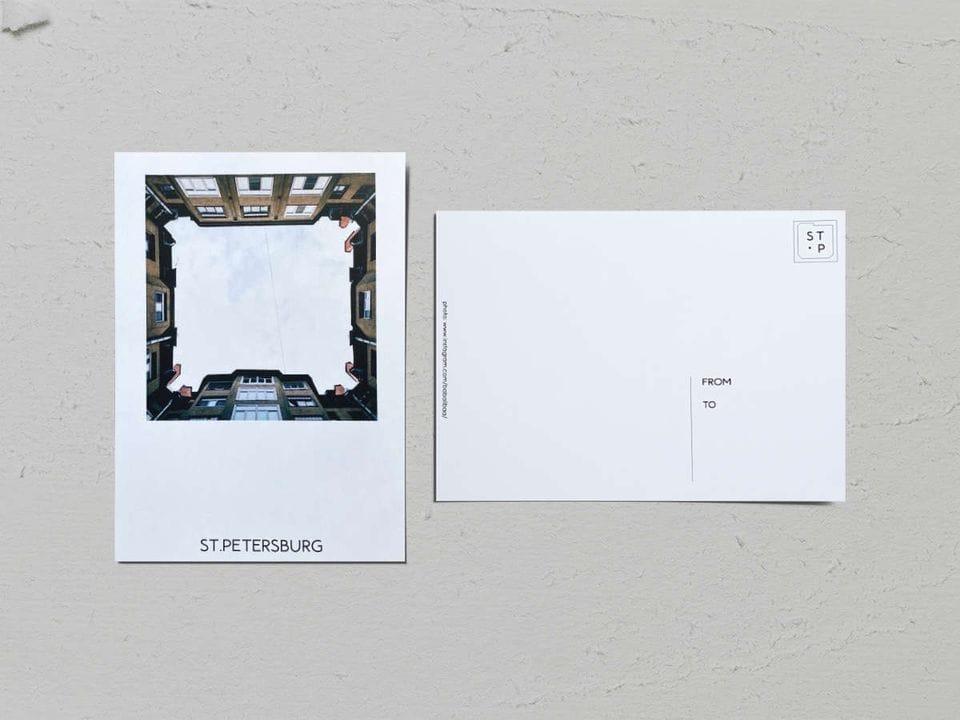 Авторская фото открытка «Двор-колодец на Рылеева» - фотограф Валерия Кузнецова