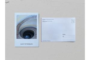 Почтовая открытка фото «Дом общества поощрения художеств», винтовая лестница,  Валерия Кузнецова